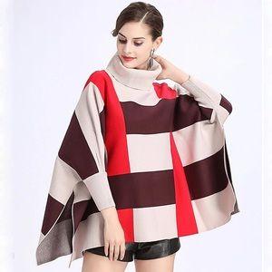 turtlenecks knitted sweater shawl cardigan